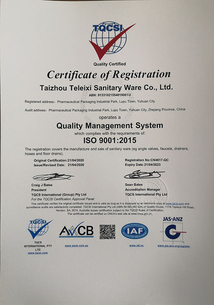 Taizhou Tracy Sanitary Ware Co., Ltd